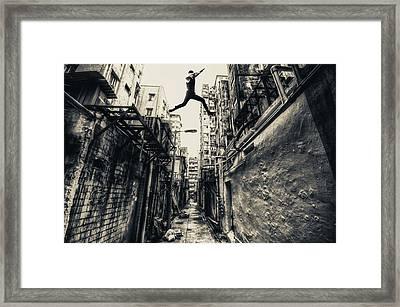 Behind Street Framed Print