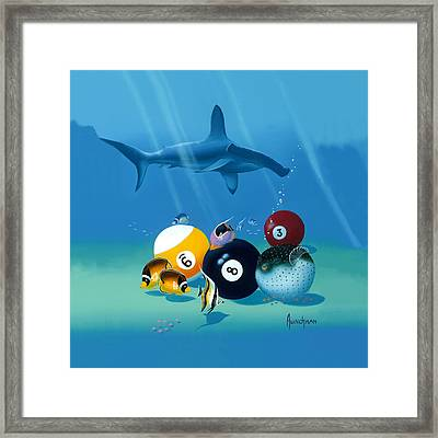 Behind The 8 Ball Framed Print