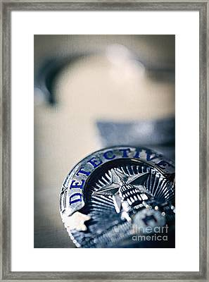 Framed Print featuring the photograph Behind The Badge by Trish Mistric
