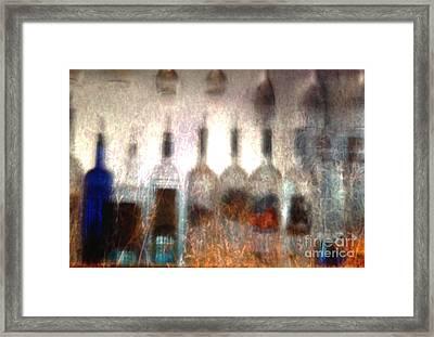 Behind The Bar Framed Print