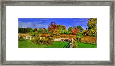 Behind The Barn Framed Print