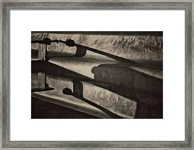 Behind The Barrier Framed Print by Odd Jeppesen