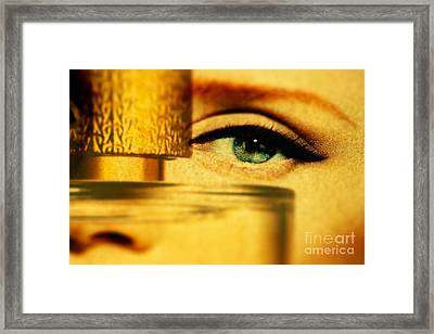 Behind The Bottle Framed Print by Michael Cinnamond