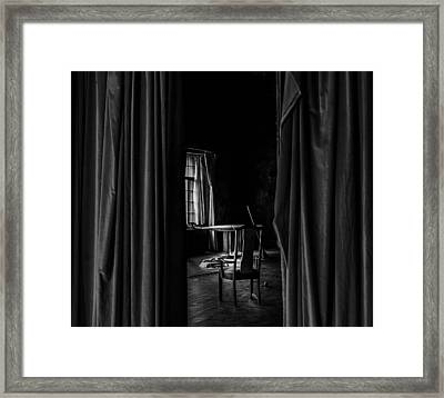 Behind The Curtain Framed Print by David Mcchesney