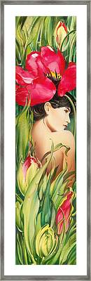 Behind The Curtain Of Colours -the Tulip Framed Print by Anna Ewa Miarczynska
