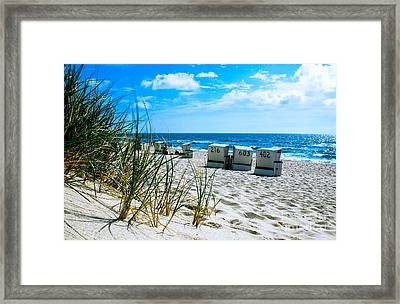 Behind The Dunes -light Framed Print by Hannes Cmarits