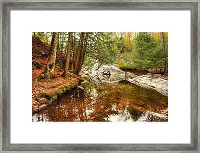 Behind The Falls Framed Print by Dennis Clark
