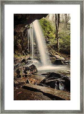 Behind The Falls Framed Print by Heather Applegate