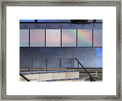 Behind The Frosted Veil Framed Print