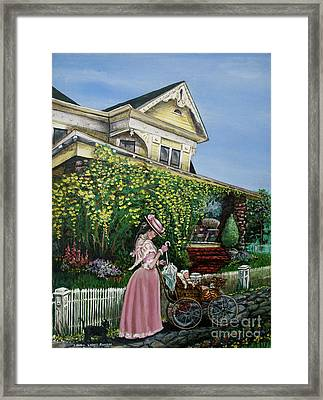 Behind The Garden Gate Framed Print by Linda Simon