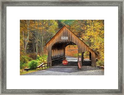 Behind The Gate Framed Print by Deborah Benoit