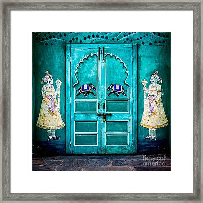 Behind The Green Door Framed Print by Catherine Arnas