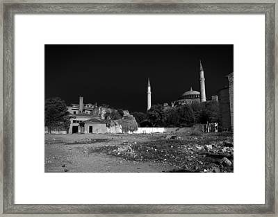 Framed Print featuring the photograph Behind The Hagia Sophia by Ross Henton