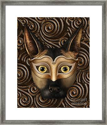Behind The Mask Framed Print by Bedros Awak