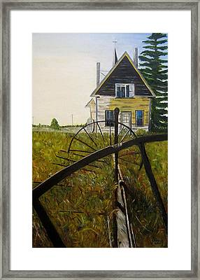 Framed Print featuring the painting Behind The Old Church by Marilyn  McNish