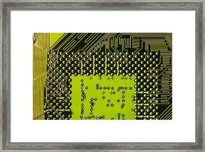 Behind The Processor Socket Framed Print by Janne Mankinen