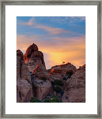 Behind The Rocks Framed Print by Dustin  LeFevre