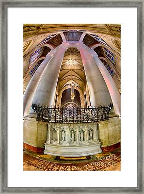 Behind The Sanctuary St John The Divine Framed Print by Jerry Fornarotto