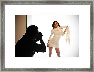 Behind The Scenes Framed Print by Andrew Bailey