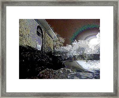 Behind The Scenes At Keeneland Framed Print by Christopher Hignite