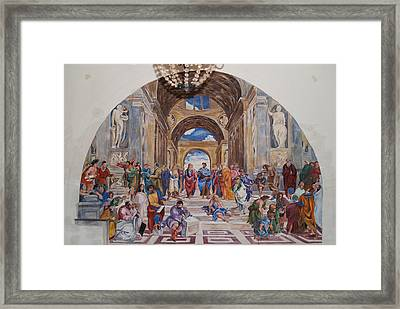 Behind The Scenes Mural 9 Framed Print