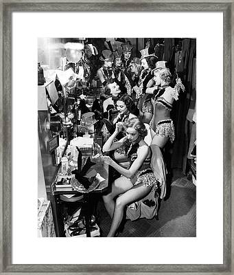 Behind The Scenes With The Famous Rockettes Framed Print