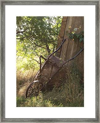Behind The Shed Framed Print