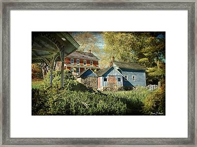 Behind The Smokehouse Framed Print by Fran J Scott
