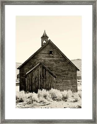 Behind The Steeple By Diana Sainz Framed Print