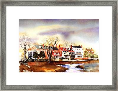 Behind The Strand In New Castle Framed Print