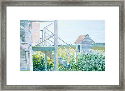 Behind The Town Hall Framed Print