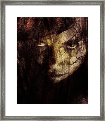 Behind The Veil Framed Print