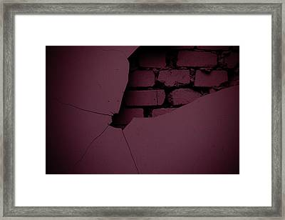 Behind The Wall Framed Print