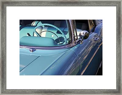 Behind The Wheel Framed Print by Luke Moore
