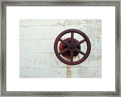 Behind The Wheel Framed Print by Tom Druin