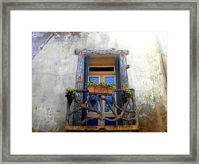 Behind The Window ... Framed Print