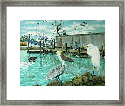 Behind Wando Shrimp Co. Framed Print