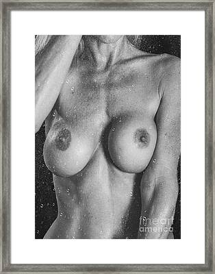 Behind Wet Glass Framed Print