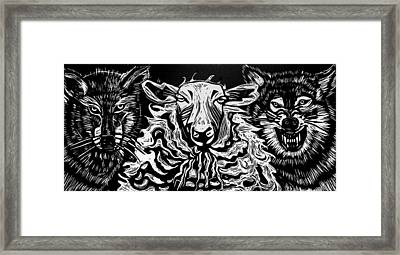 Behold I Send You Out As Sheep Among Wolves Framed Print by Sarah Taylor Ko