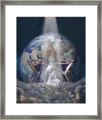 Behold My Beloved Son.... Framed Print by Sandi OReilly