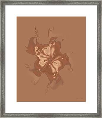 Beige Satin Morning Glory Framed Print by Judi Suni Hall