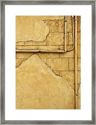 Beige Wall Framed Print by Con Tanasiuk