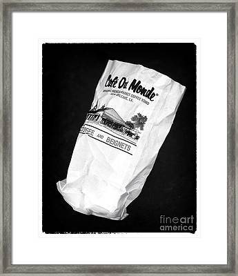 Beignets In The Bag Framed Print by John Rizzuto