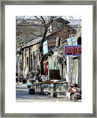 Beijing China - Hutong Framed Print