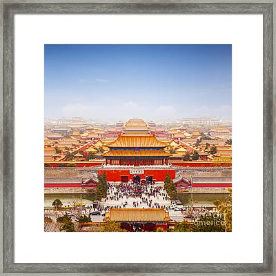 Beijing Forbidden City Skyline Framed Print by Colin and Linda McKie