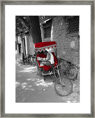 Beijing Morning Break Framed Print