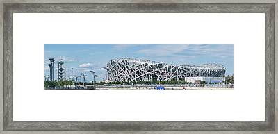 Beijing National Stadium, Olympic Framed Print