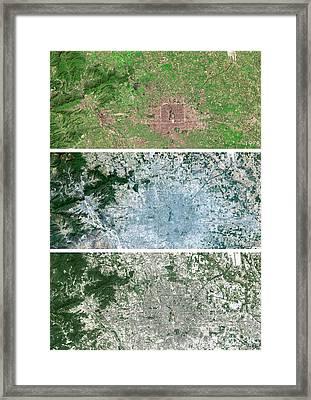 Beijing Urban Spread Framed Print