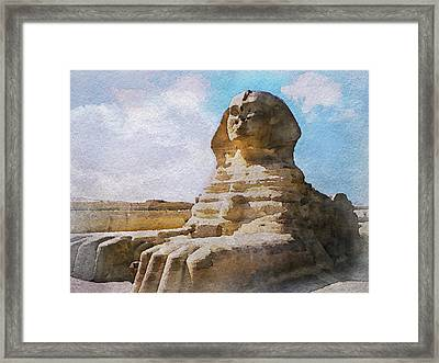 Being Ignored By The Sphinx Framed Print