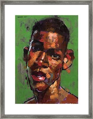 Being Manuel Framed Print by Douglas Simonson